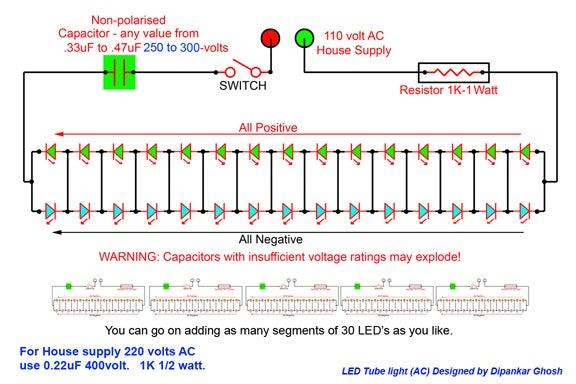 Led Tube Light Ac 3 Steps Instructables
