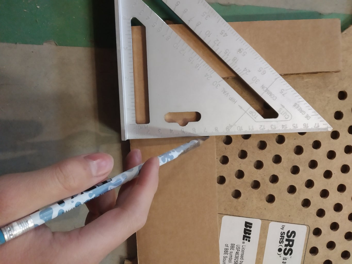 Cut Out Wood and Cardboard