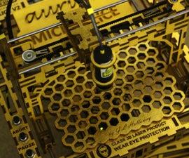 The MicroSlice V2 Aurum   a Gold Mini Laser Cutter & Engraver.