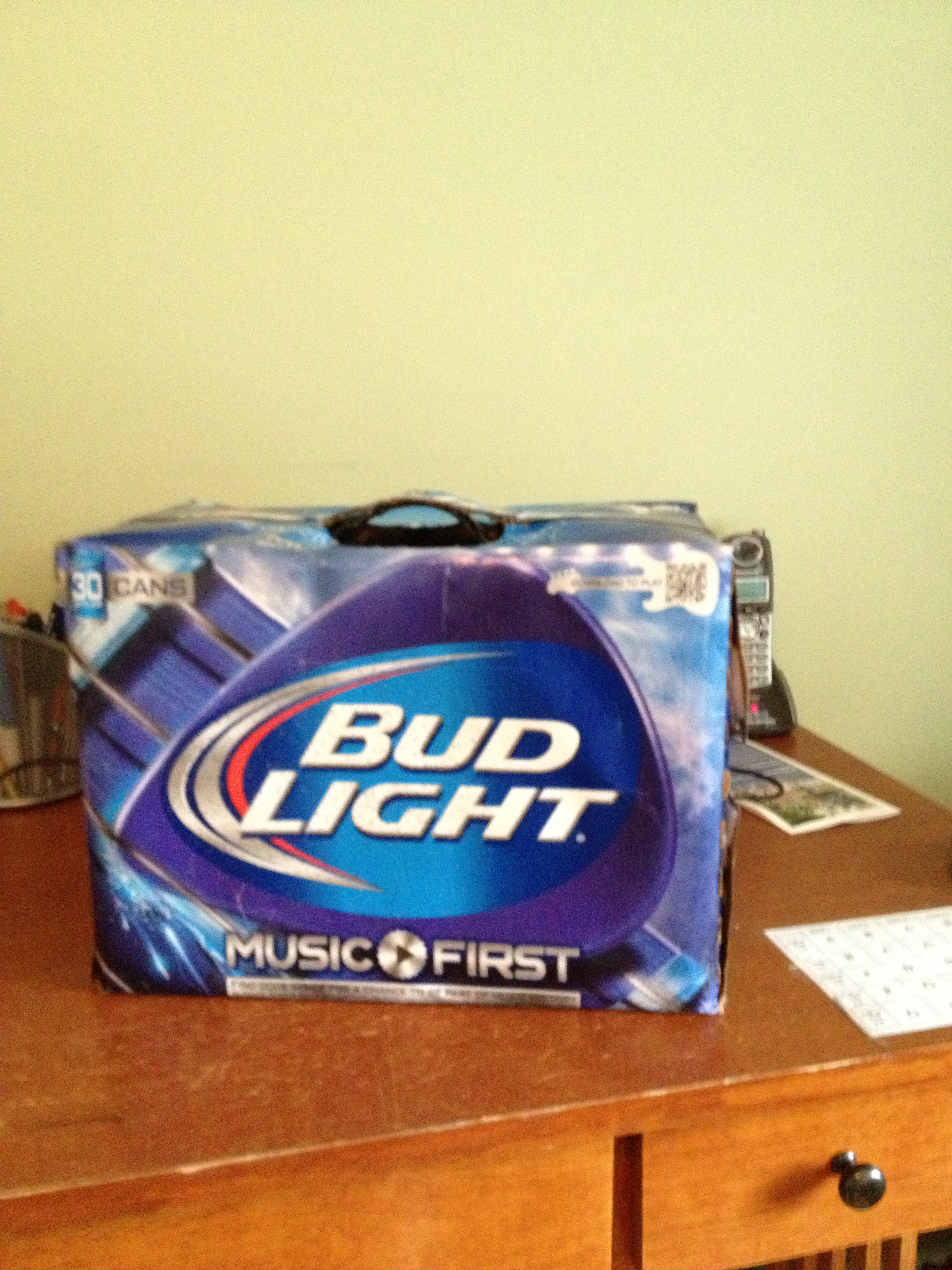 Customized Speaker Box- Bud Light