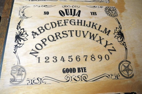 Making the Ouija Board - Removing the Paper
