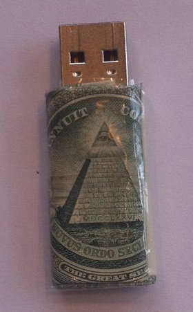 Dollar Bill USB Flash Drive Case