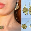 Succulent Jewelry Set With Polymer Clay