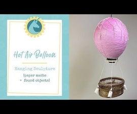 Hanging Hot Air Balloon Sculpture