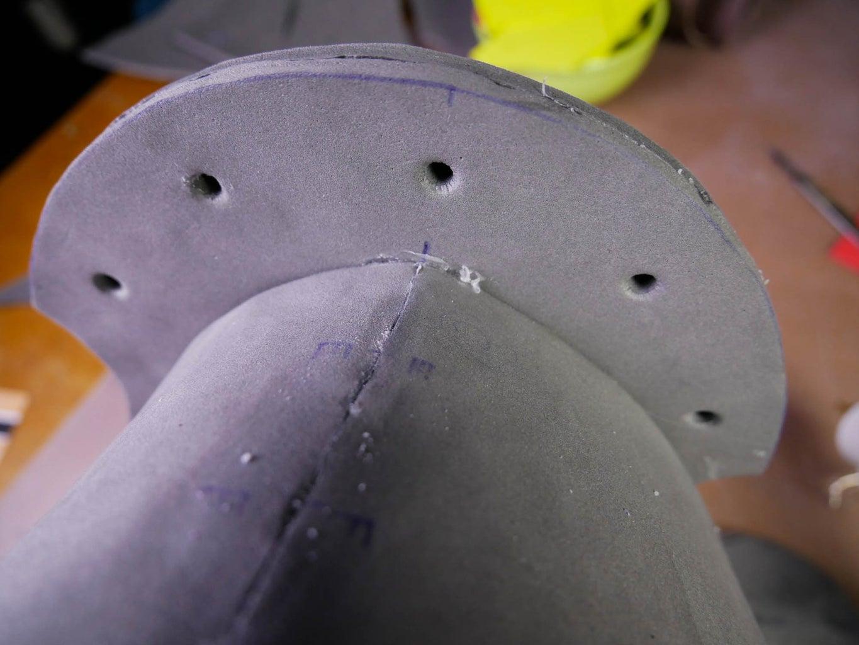Glue the Neck Guard to the Torso.