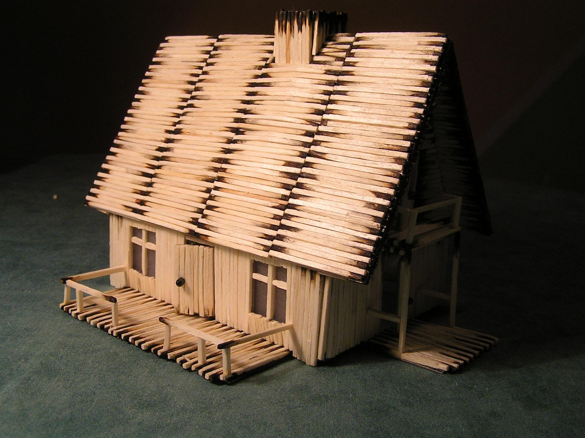 750 matchsticks house