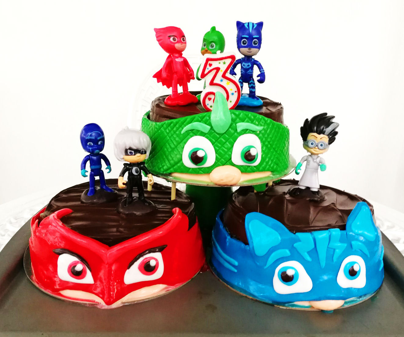 PJ Mask Fondant Cake Remix