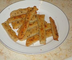 Easy Recipe for Cheesy Bread Sticks With Caraway. (Saleuri Cu Brânză)