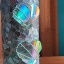 Rainbow Shining  Bottle Art