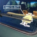 How to Apply a Bumper Sticker
