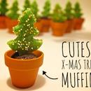 Cutest Chocolate-Lemon x-mas Tree Muffin