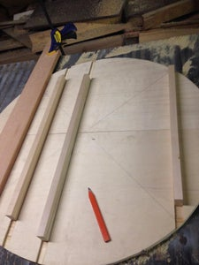 Cutting Out the Table Top and Reinforcing It.