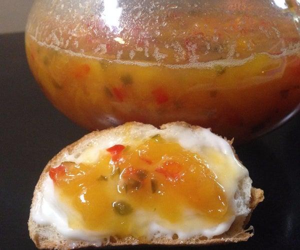Spicy Peach Microwave Jam