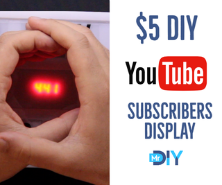 $5 DIY YouTube Subscriber Display Using ESP8266 - No Coding Needed