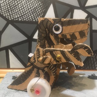 Classroom Activity: Make a Motorized Cardboard Dinosaur