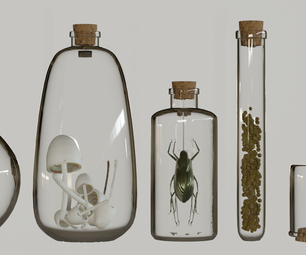 Blender: Bottles for Oddities