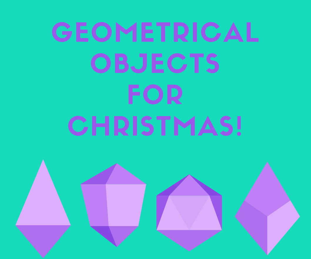 Geometrical paper objects for christmas