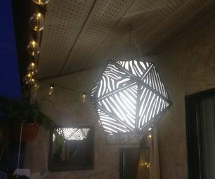 Cardboard Dazzling Platonic Solid Lantern