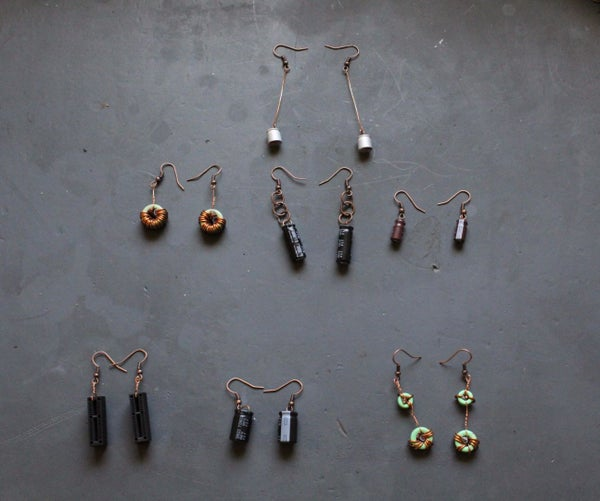 7 Pairs of Nerdy Earrings From 1 Motherboard