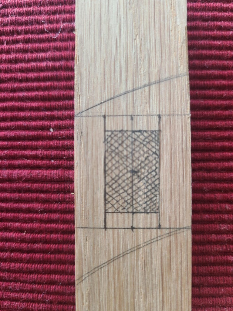 Horizontal Base Pieces - Laying Out and Cutting the Mortise