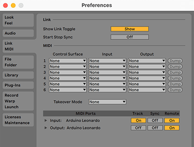 Using the MIDI Controller