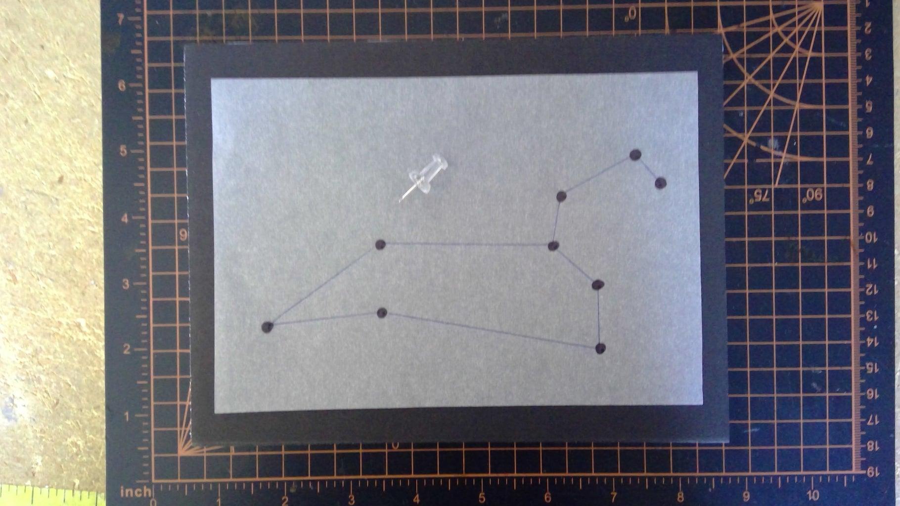 Trace Constellation Onto Foam Board