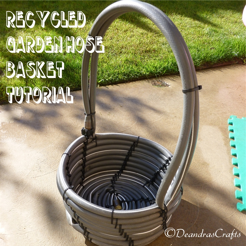 Recycled Garden Hose Basket