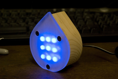 Make a Fancy Blue LED Lamp (by Brad Justinen)