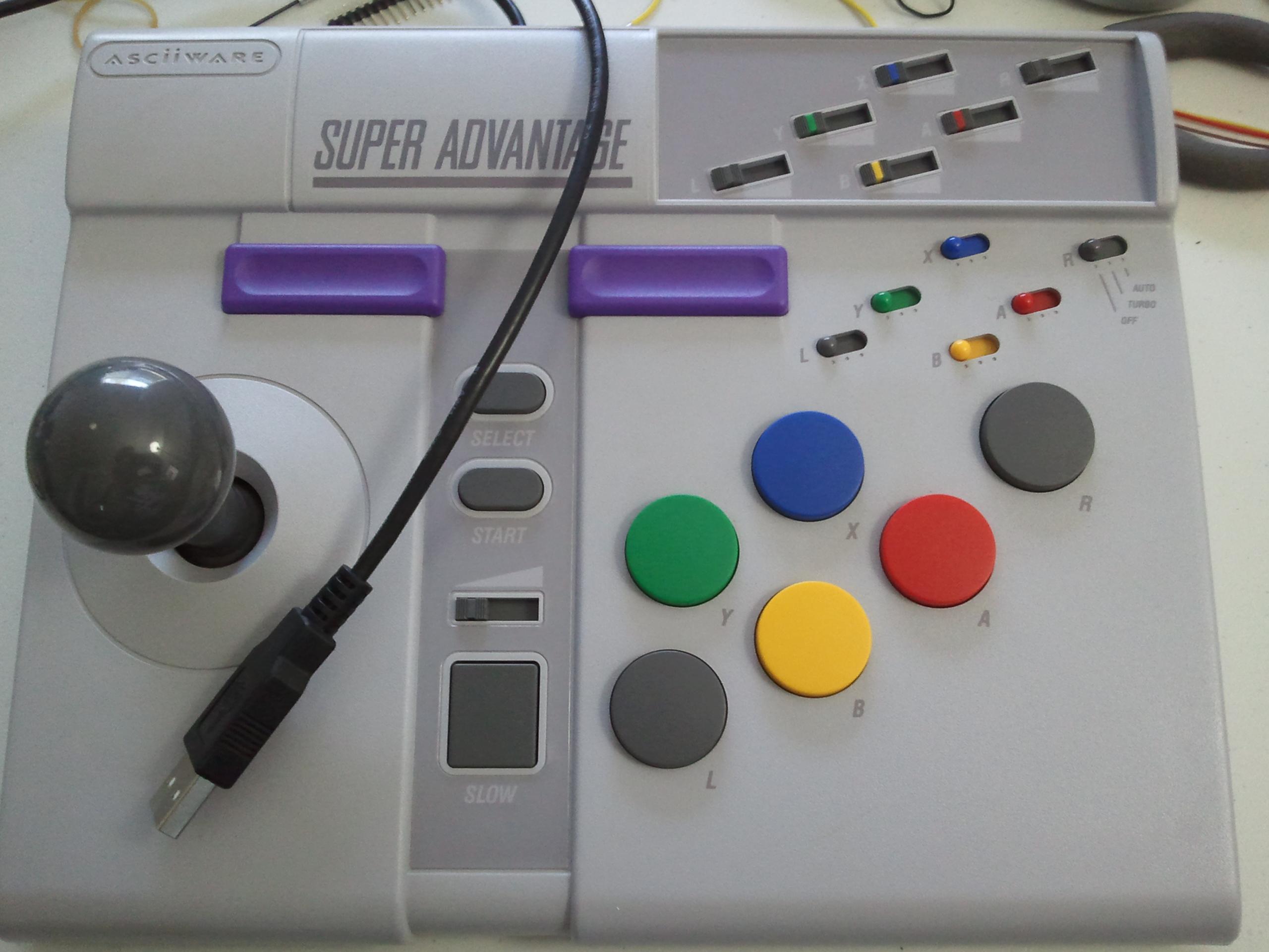 SNES Super Advantage + Teensy = USB/PS3 Joystick