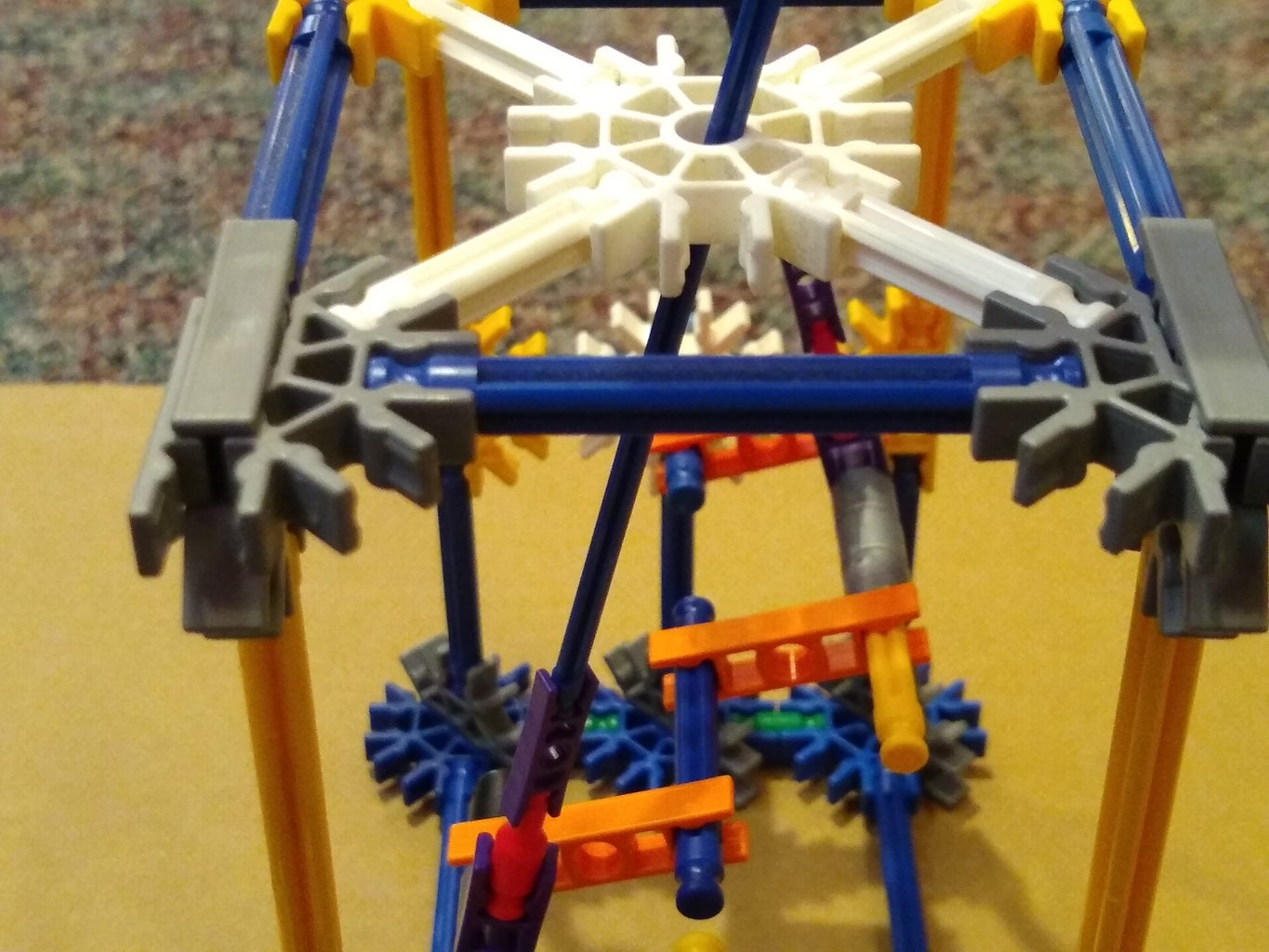 Attach Origami Stick Puppets to the Crank Shaft As Shown