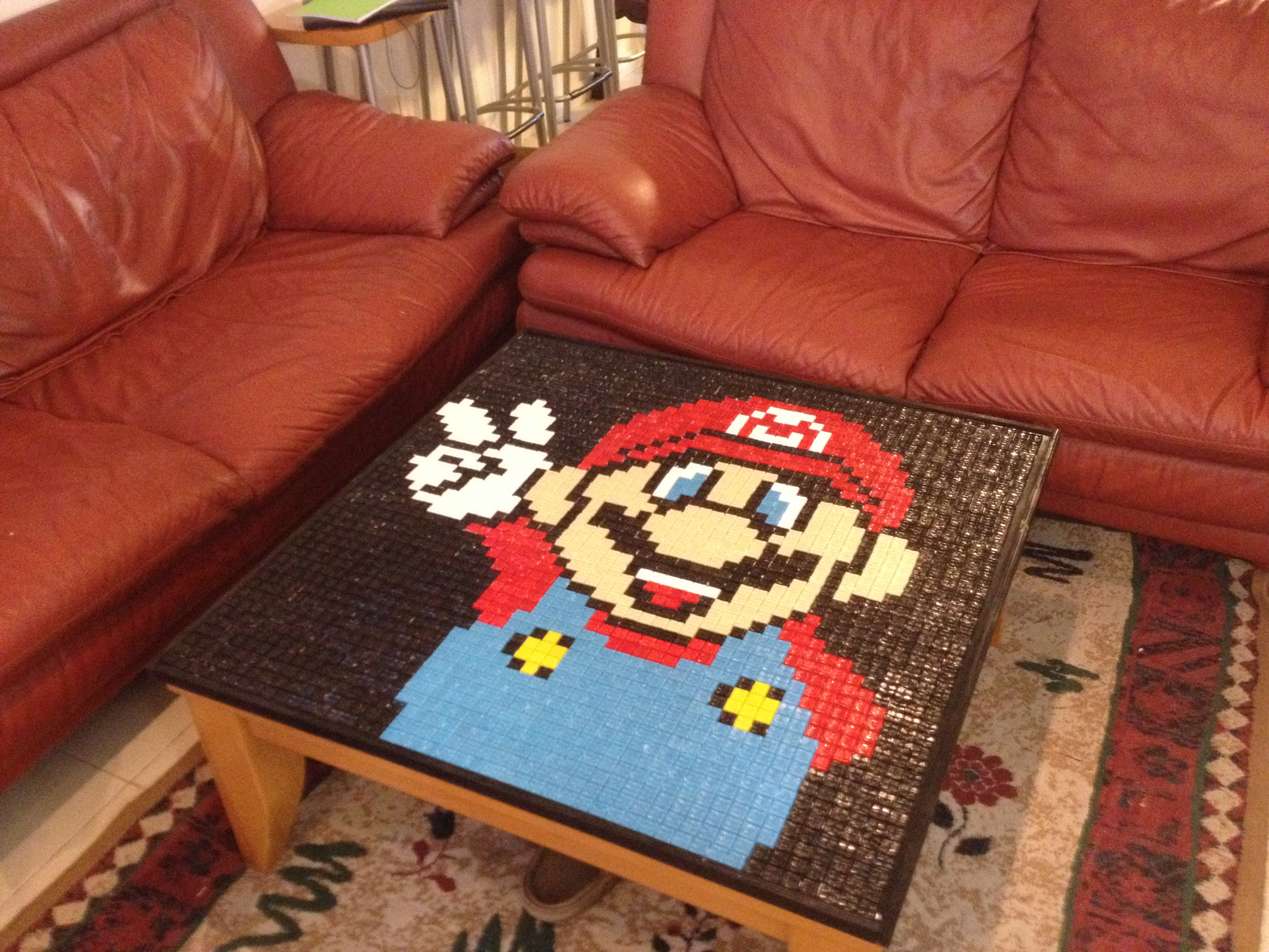 Super Mario Mosaic Table /Table Cover