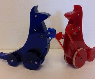 Lasercut Boxing Kangaroo Toys