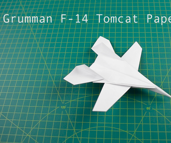 How to Fold Paper Plane: F14 Jet Fighter