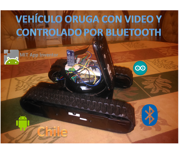 Tank With Video Controlled by App Inventor Android and Bluetooth