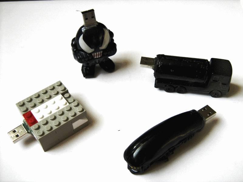 Customized USB flash drive.