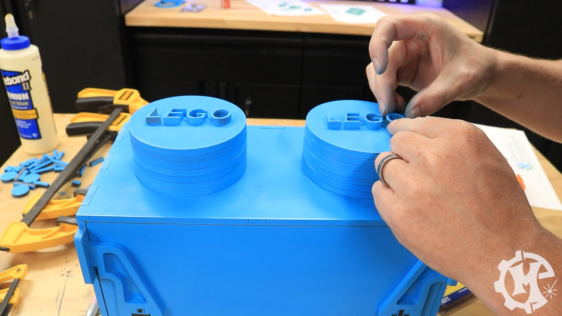 Assemble the Top Storage Containers