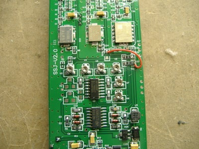 Removing the Inner Circuit Board and Locating the Adjustable Caps.