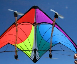 Kite With Wind-Powered LEDs
