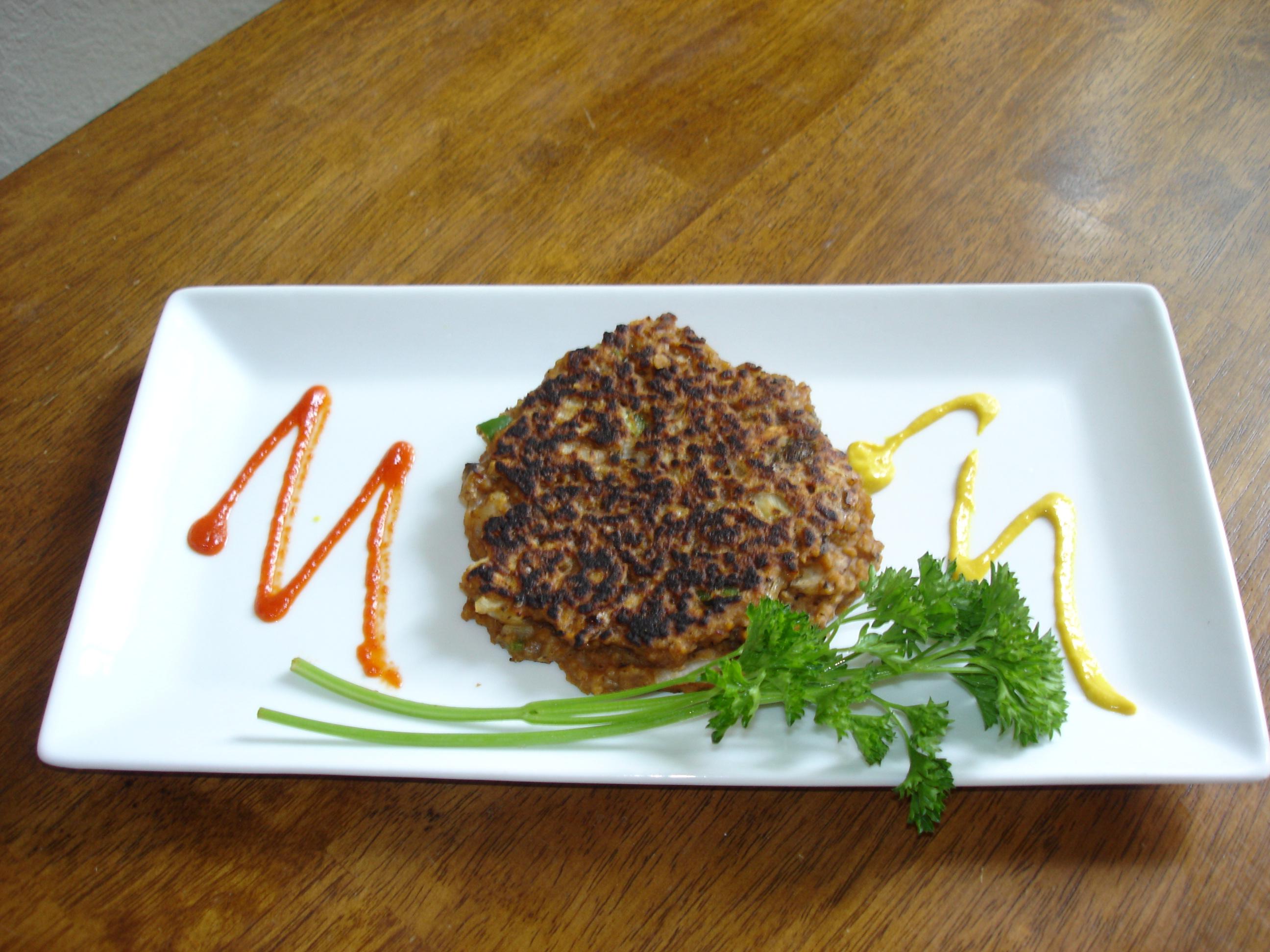 Not-so-veggie Veggie Burger