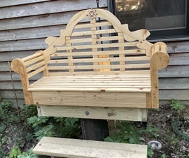 Fancy Elevated Garden Bench