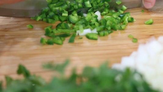 Chop Onion and Jalapeño