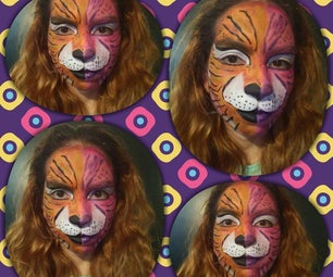 Two Tone Tiger Face Paint