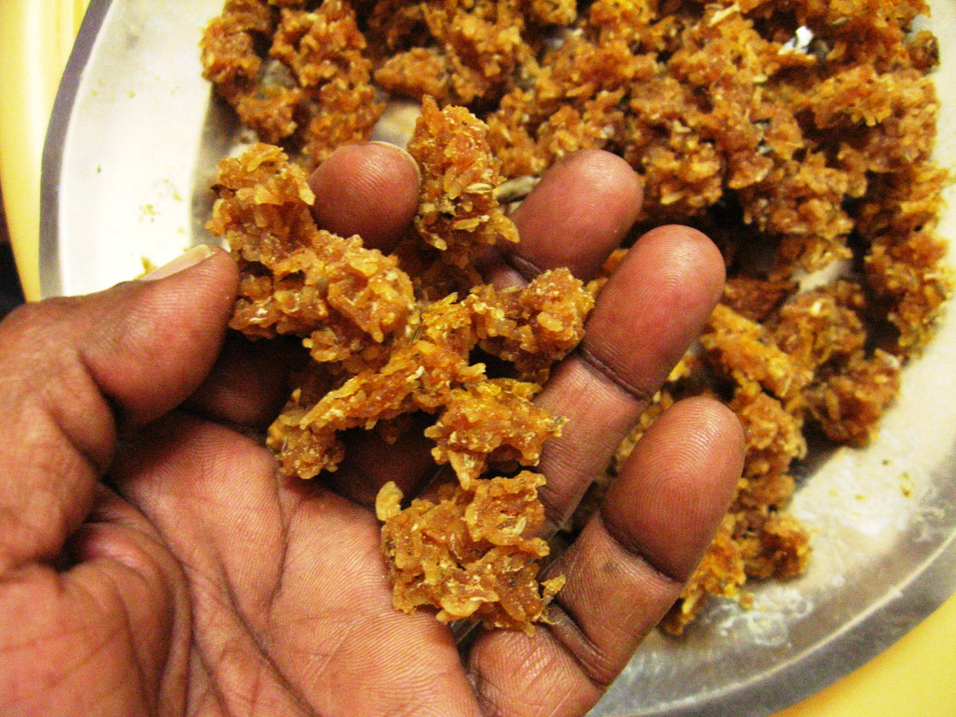 Rice Vadagam : Sun Dried Raw Crispies Made From Left Over Cooked Rice