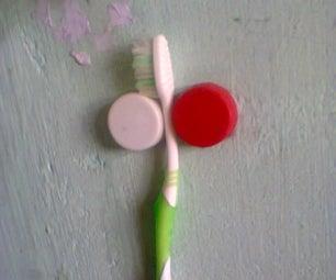 Simple Bottle Cap Toothbrush Holder Hack