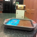 Making frosted brownies