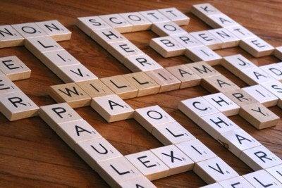 Grandma's Scrabble Wall Art