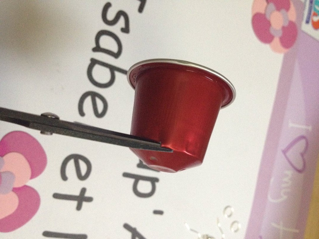 Cut Out the Pieces From Your Coffee Pod