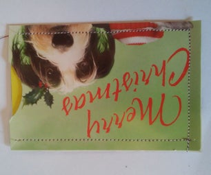Gift Card Holder Out of Christmas Card