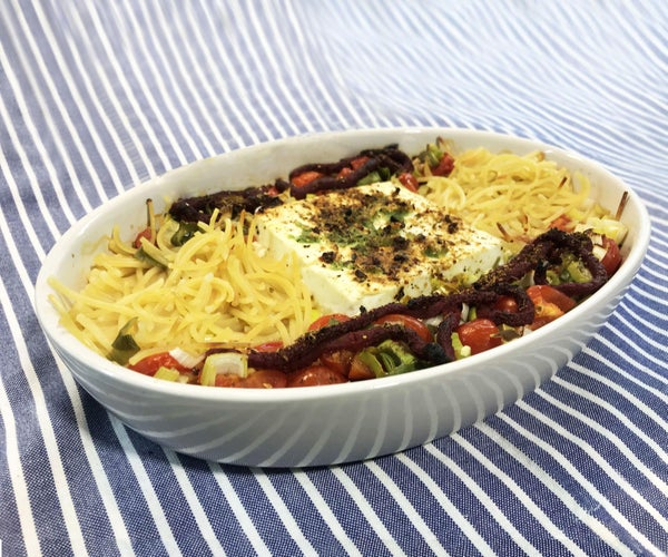 Oven Pasta With Feta and Tomatoes