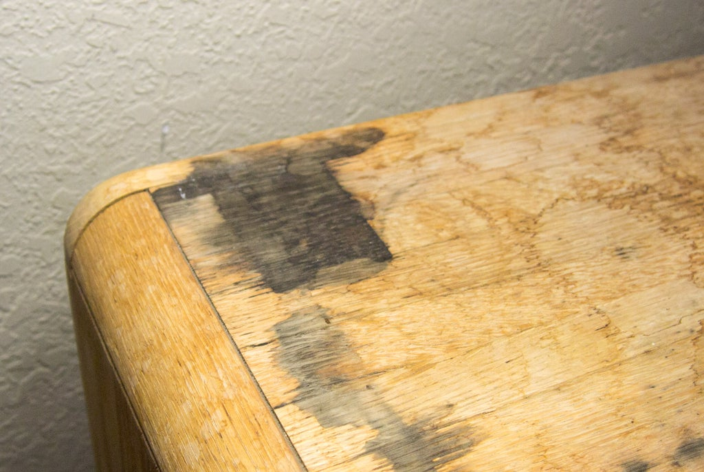 Removing Black Stains In Wood Furniture With Oxalic Acid 6 Steps Pictures Instructables - How To Remove Water Marks Off Wooden Table